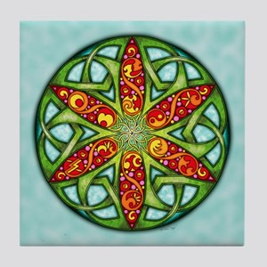 Celtic Summer Mandala Tile Coaster