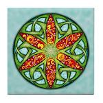 Celtic Summer Mandala Tile Coaster