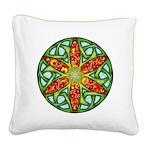 Celtic Summer Mandala Square Canvas Pillow