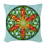 Celtic Summer Mandala Woven Throw Pillow