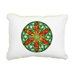 Celtic Summer Mandala Rectangular Canvas Pillow