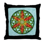 Celtic Summer Mandala Throw Pillow