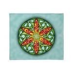 Celtic Summer Mandala Throw Blanket