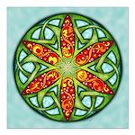 Celtic Summer Mandala Square Car Magnet 3