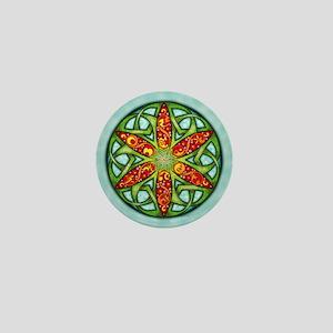 Celtic Summer Mandala Mini Button
