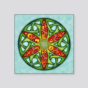 "Celtic Summer Mandala Square Sticker 3"" x 3"""