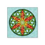 Celtic Summer Mandala Square Sticker 3