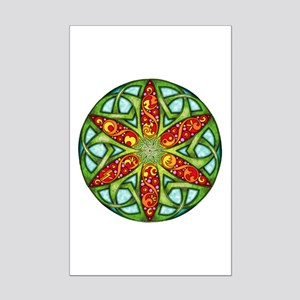 Celtic Summer Mandala Mini Poster Print