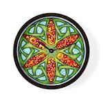 Celtic Summer Mandala Wall Clock