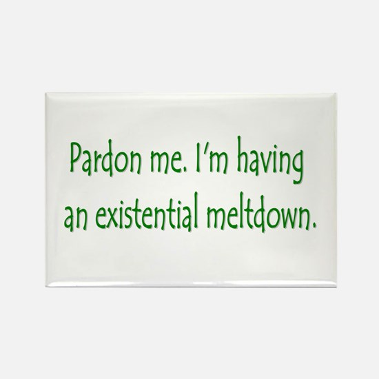 Existential Meltdown Rectangle Magnet