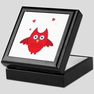 Red Owl Bird Animal Keepsake Box