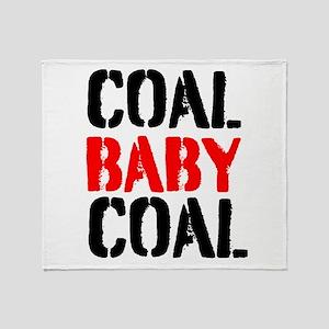 Coal Baby Coal Throw Blanket