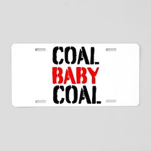 Coal Baby Coal Aluminum License Plate