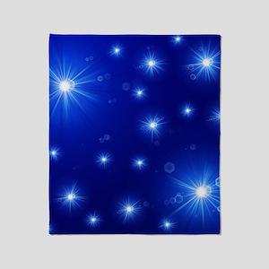 helle sterne auf blau Throw Blanket