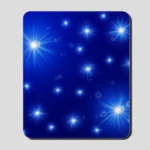 helle sterne auf blau Mousepad