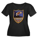 USS FISK Women's Plus Size Scoop Neck Dark T-Shirt