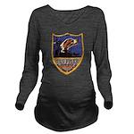USS FISKE Long Sleeve Maternity T-Shirt