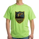 USS FISKE Green T-Shirt