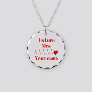 Personalizable Future Mrs. _ Necklace Circle Charm