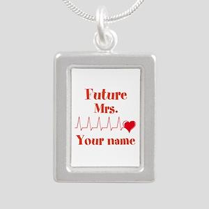 Personalizable Future Mr Silver Portrait Necklace