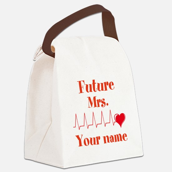 Personalizable Future Mrs. __ Canvas Lunch Bag