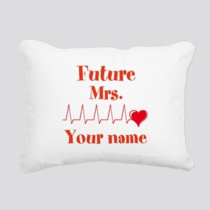 Personalizable Future Mr Rectangular Canvas Pillow