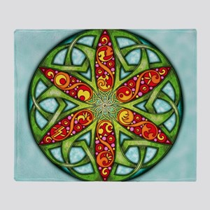 Celtic Summer Mandala Throw Blanket