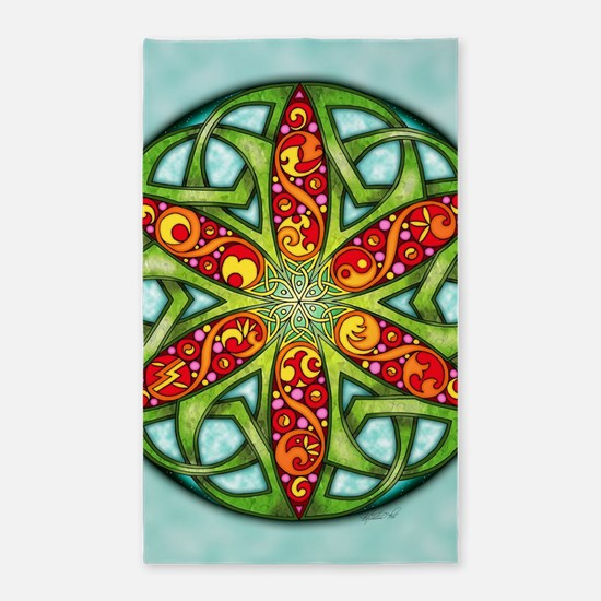 Celtic Summer Mandala 3'x5' Area Rug