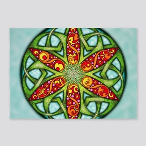 Celtic Summer Mandala 5'x7'Area Rug