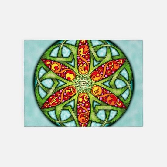 Celtic Summer Mandala 5'x7'Area Rug