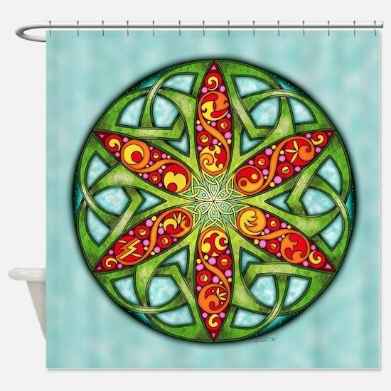 Celtic Summer Mandala Shower Curtain