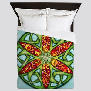 Celtic Summer Mandala Queen Duvet