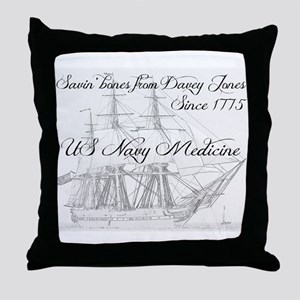 Saving Bones from Davey Jones II Throw Pillow