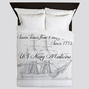 Saving Bones from Davey Jones II Queen Duvet