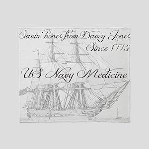 Saving Bones from Davey Jones II Throw Blanket