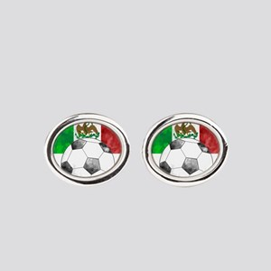 Mexico Futbol Oval Cufflinks