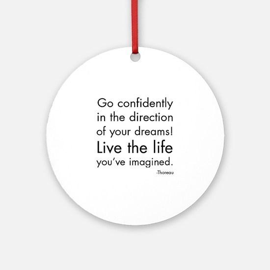 Go Confidently Ornament (Round)