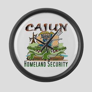 Cajun Homeland Security Large Wall Clock