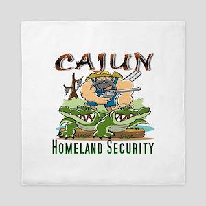 Cajun Homeland Security Queen Duvet