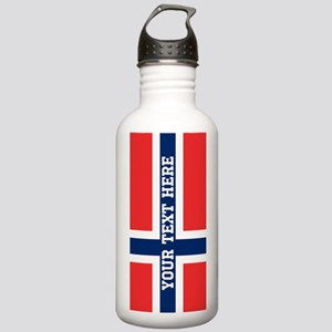 Personalize Flag of Norway Water Bottle