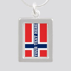 Personalize Flag of Norway Necklaces