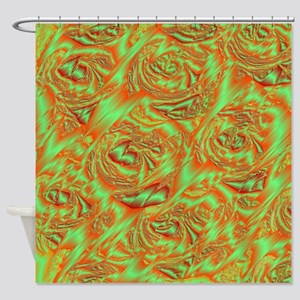 rose in metall Shower Curtain