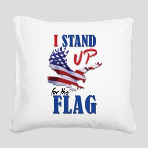 Keeling? Stand Up For The Fla Square Canvas Pillow