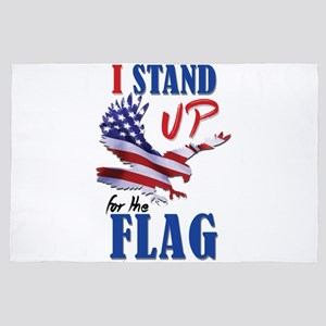 Keeling? Stand Up For The Flag! 4' x 6' Rug