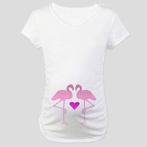 Flamingo Love Maternity T-Shirt