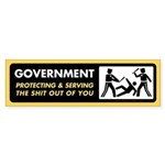 Government Protecting and Serving Bumper Sticker