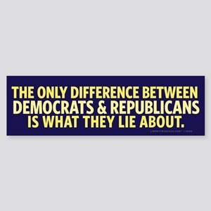 The Only Difference Bumper Sticker
