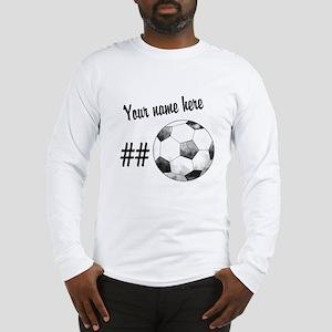 Soccer Art Long Sleeve T-Shirt