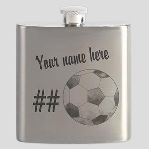 Soccer Art Flask