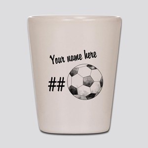 Soccer Art Shot Glass